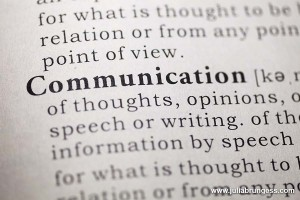 Dictionary definition of the word Communication.