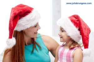 Parent with Child During the Holiday Season