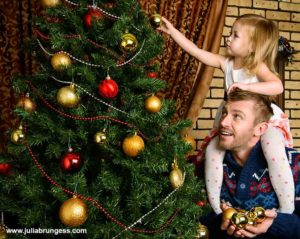 Dad with Child Custody During the Holidays
