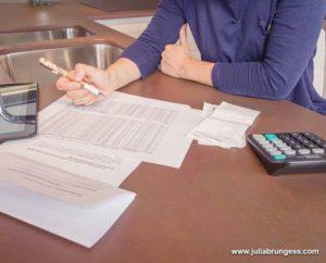 Person Doing Finances During Divorce