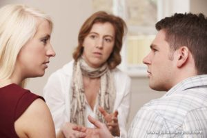 Couple Expressing Emotional Issues During Divorce Process
