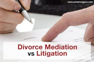 Divorce Mediation vs Litigation Title Image