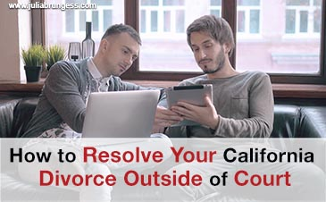 How to Resolve Your California Divorce Outside of Court
